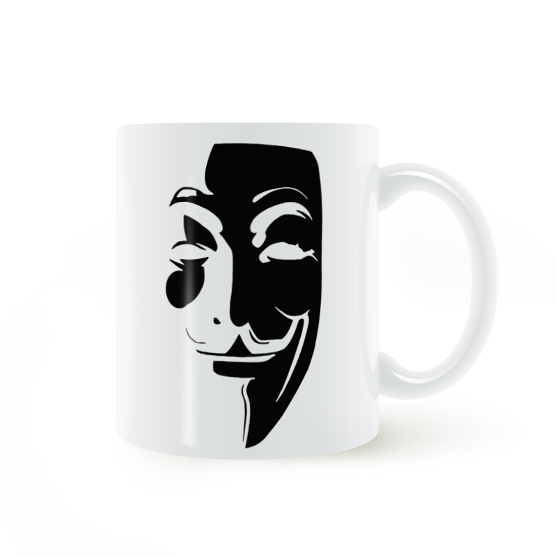 Guy Fawkes ANONYME Mug Tasse