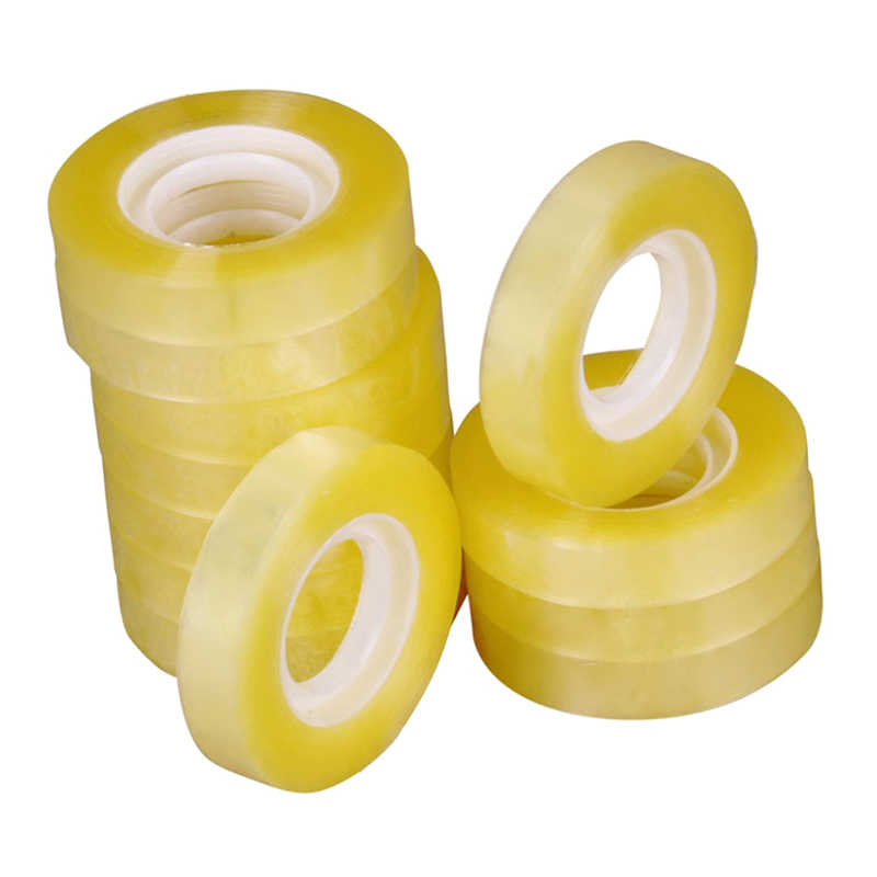 1.8cm*60m Gift Packing Transparent Small Adhesive Tape Office Stationery Customized Supplies