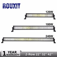 LED bar offroad 120W 240W 180W led light bar off road 4X4 fog Led work lights bar car trucks tractor ATV Spot Flood Combo