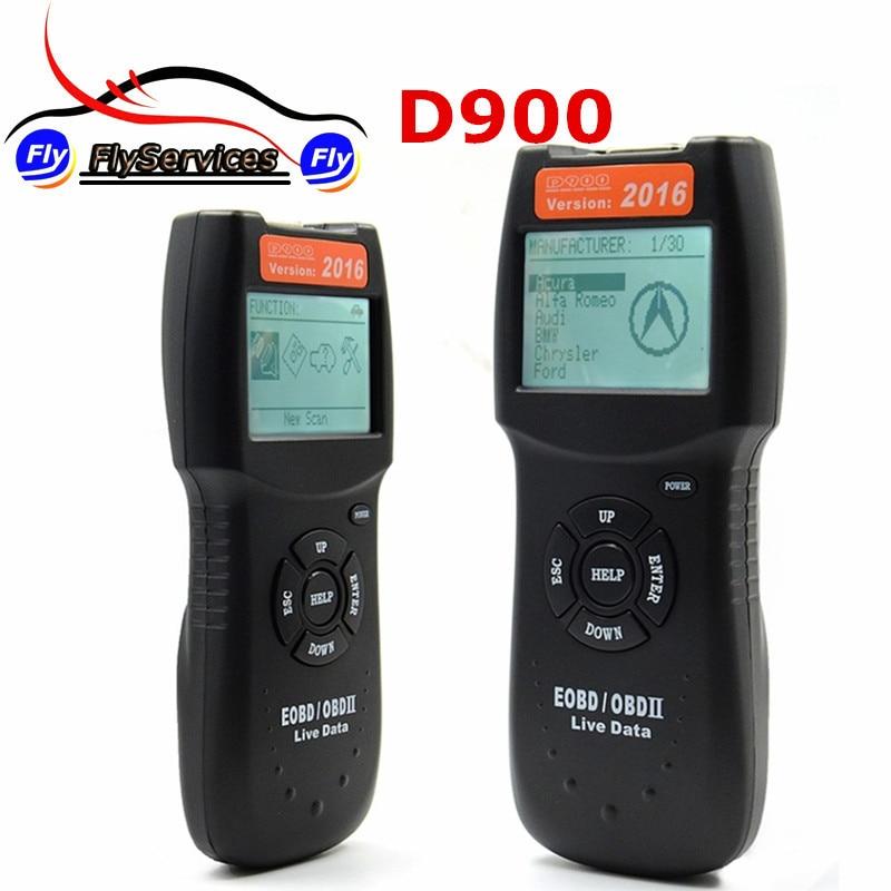 Цена за Версия 2016 CANSCAN D900 Code Reader Сканер OBD2 Живут PCM Код Чтения Данных Сканер Авто Код EOBD Диагностический Инструмент