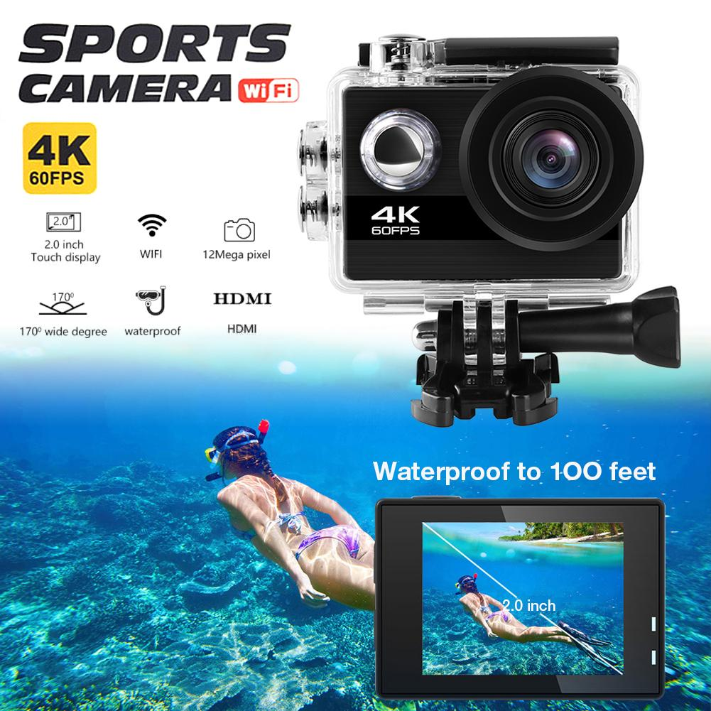 Q40C 4K Ultra HD Motion Camera Portable Versatile Action Camera 100FT Waterproof WiFi HD Sports Camcorder With Wide-Angle Lens(China)