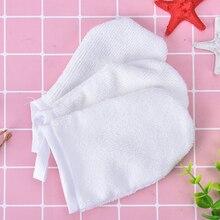 1 шт. белая многоразовая салфетка из микрофибры для лица, полотенце для лица, средство для снятия макияжа, очищающая перчатка, инструмент 12 см x 8,5 см