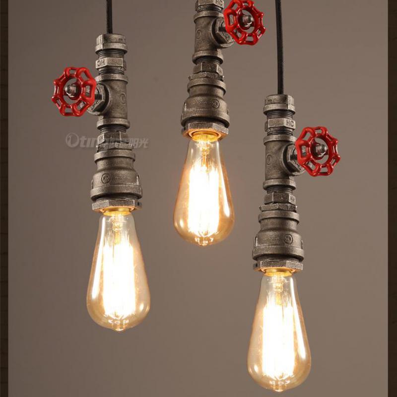 Bar salon 1 pièces Antique conduite d'eau pendentif lumière Loft rétro art Studio art décoration éclairage lampara usine lampe industrielle