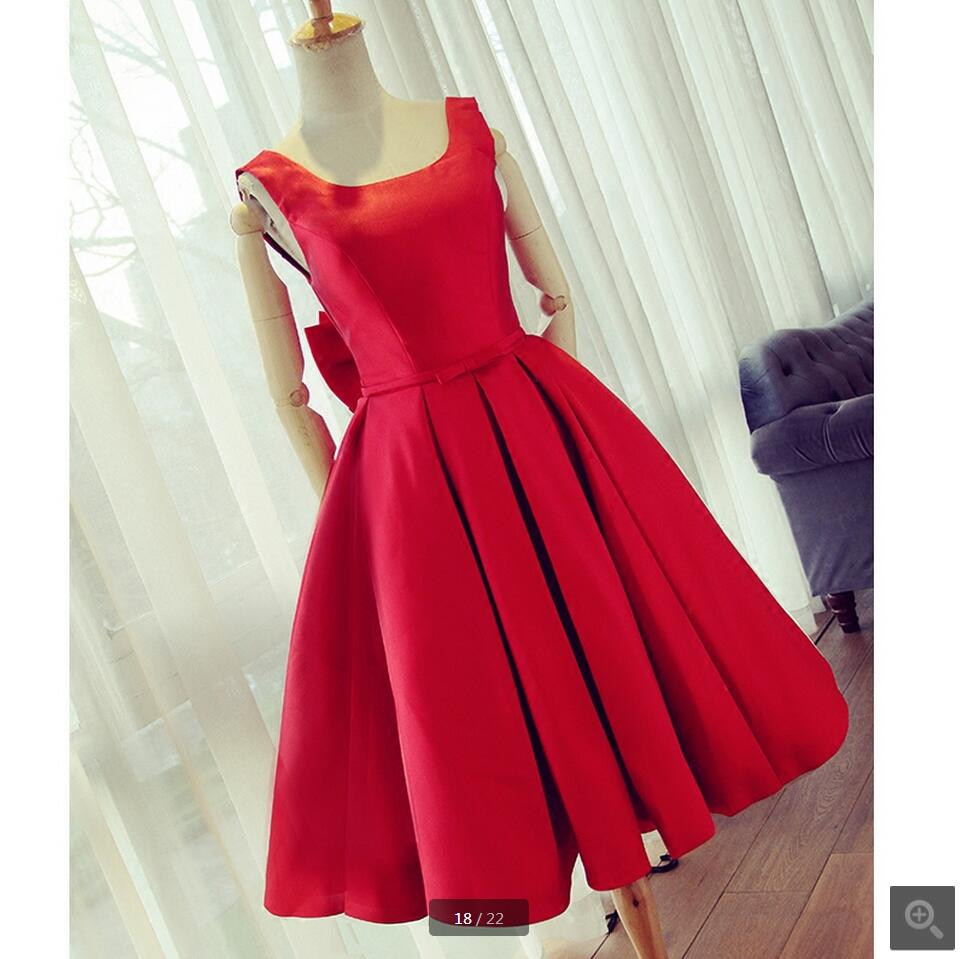 2016 new arrival red satin real picture   prom     dress   open back sexy petite   prom   gowns best selling informal   prom     dresses