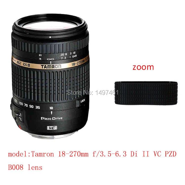 Lens Zoom Rubber Ring/Rubber Grip Repair Succedaneum For Tamron 18-270mm f/3.5-6.3 Di II VC PZD B008 lens