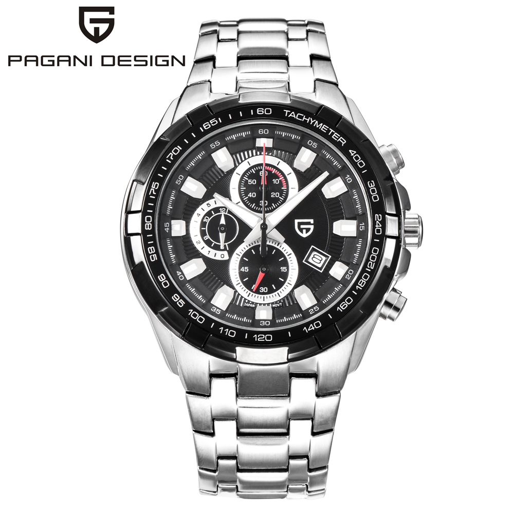 Pagani Watches Men Military stainless steel Quartz Watch Luxury Brand Waterproof Multifunction Sport Wistwatch relogio masculino weide popular brand new fashion digital led watch men waterproof sport watches man white dial stainless steel relogio masculino