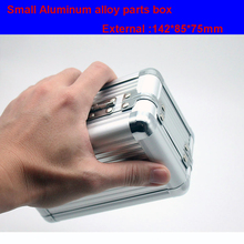 лучшая цена Aluminum alloy toolbox Suitcase Instrument box Equipment File Box Cosmetic Case Aluminum case Tool box with Sponge Free shipping