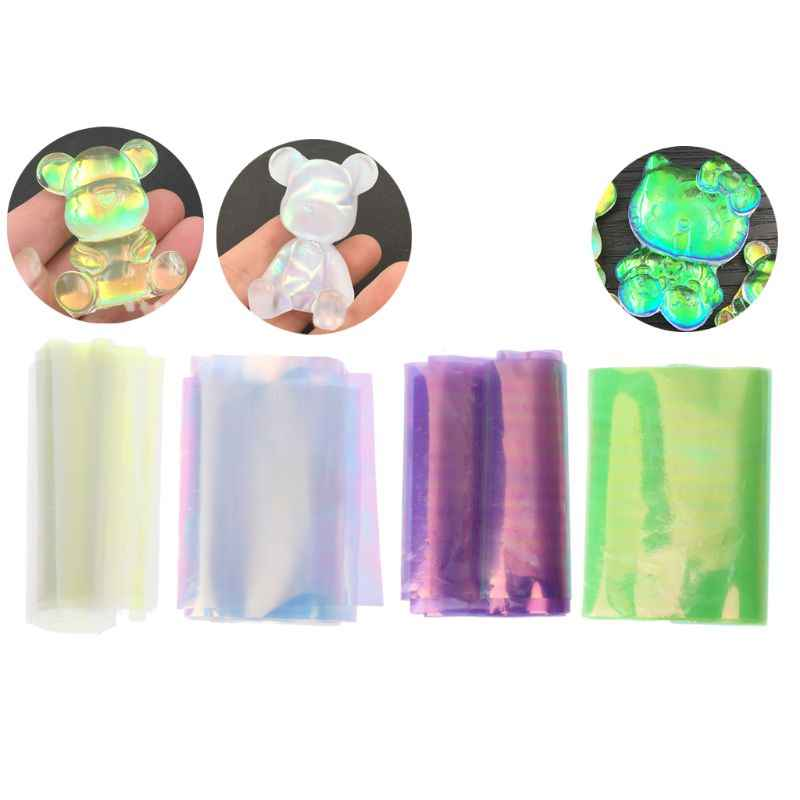 Láser Aurora AB efecto reflectante espejo papel DIY resina epoxi joyería empastes JUL3