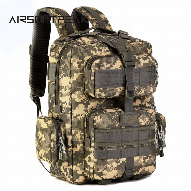 ФОТО 30L Outdoor Travelling Rucksack Hiking Shoulder Bags Sports Hunting Bag Military Trekking Backpacks Tactical Molle Backpack