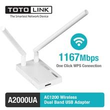 Totolink a2000ua 802.11ac 1200 мбит беспроводной двухдиапазонный usb-адаптер с 2 * 5dbi внешняя усиков и usb 3.0