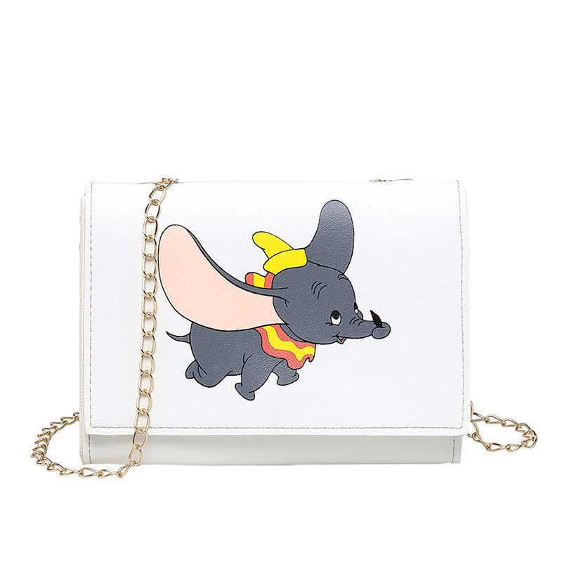 Saco de Ombro das mulheres 2019 Novas Bolsas de Luxo Mulheres Designer de Pequenos Sacos de Meninas Dos Desenhos Animados Prints Flap Messenger Bag Bolsa Feminina