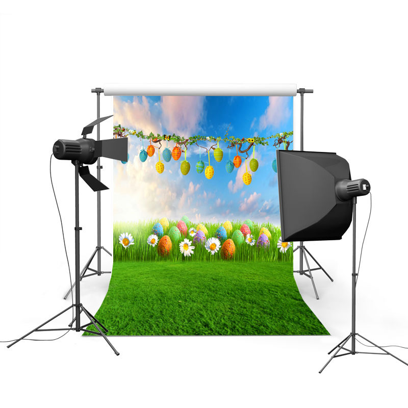 2017 new spring easter photography backdrops eggs chiken new born baby children photographic background Easter Day P0357