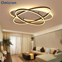 Omicron Creative Modern LED Ellipse Rings Chandelier Iron Body Lighting For Living Room Dining Room Home Decor Fixtures