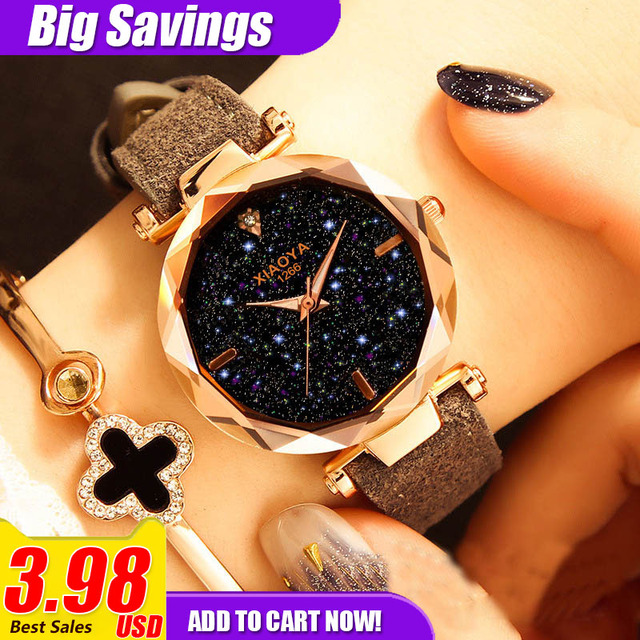 Relogio Feminino Fashion Quartz Watches Women Luxury Crystal Star Wristwatches L