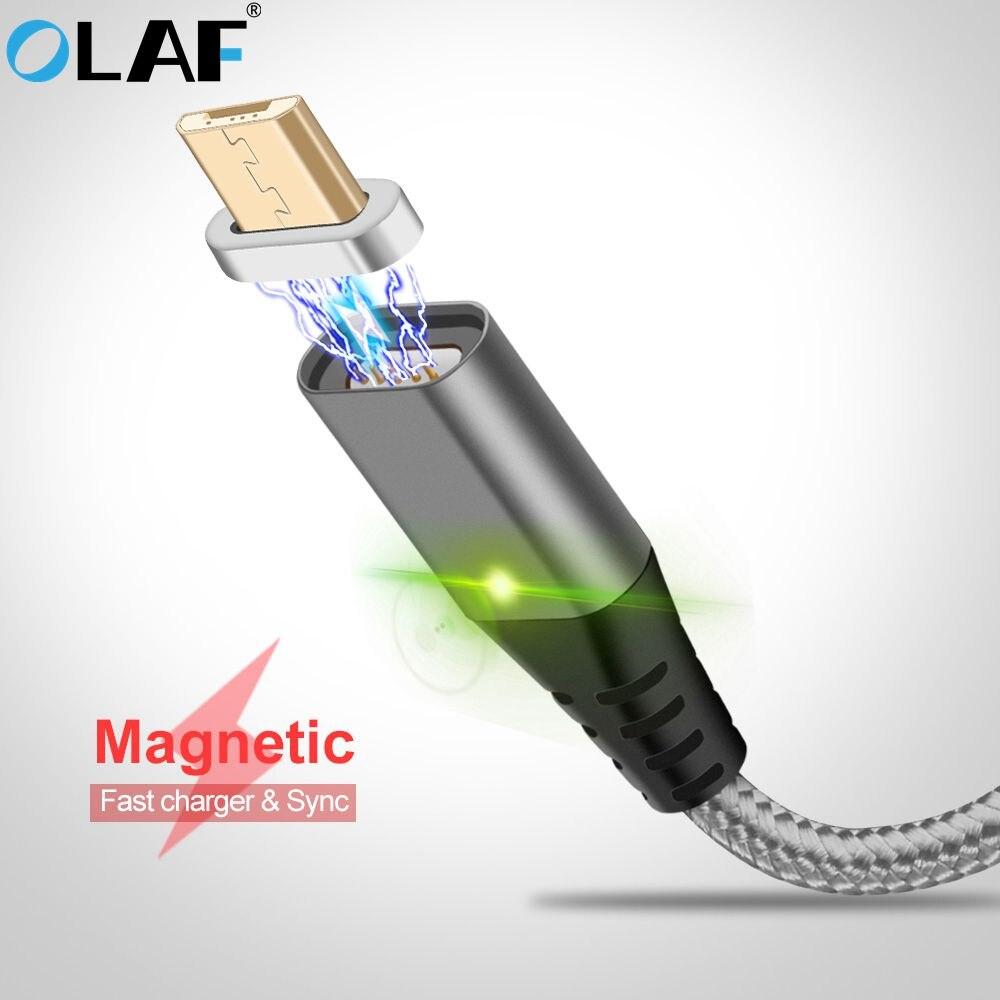 d6d4b264cd0 La Olaf magnético Cable Micro usb tipo C Super rápido del teléfono de carga Microusb  tipo-C imán cargador usb-c para iphone 7 huawei xiaomi
