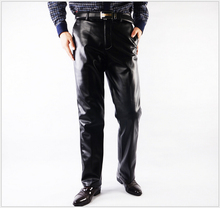 Hot !Men Pants Business Leisure Men Leather Pants Thick Leather Trousers Warm Waterproof Fashion High Quality Pants 30-42