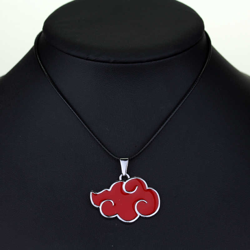 New Fashion Anime Naruto Necklace Red Cloud Akatsuki Member's Logo Pendant Necklaces For Fans Jewelry Accessories Gift