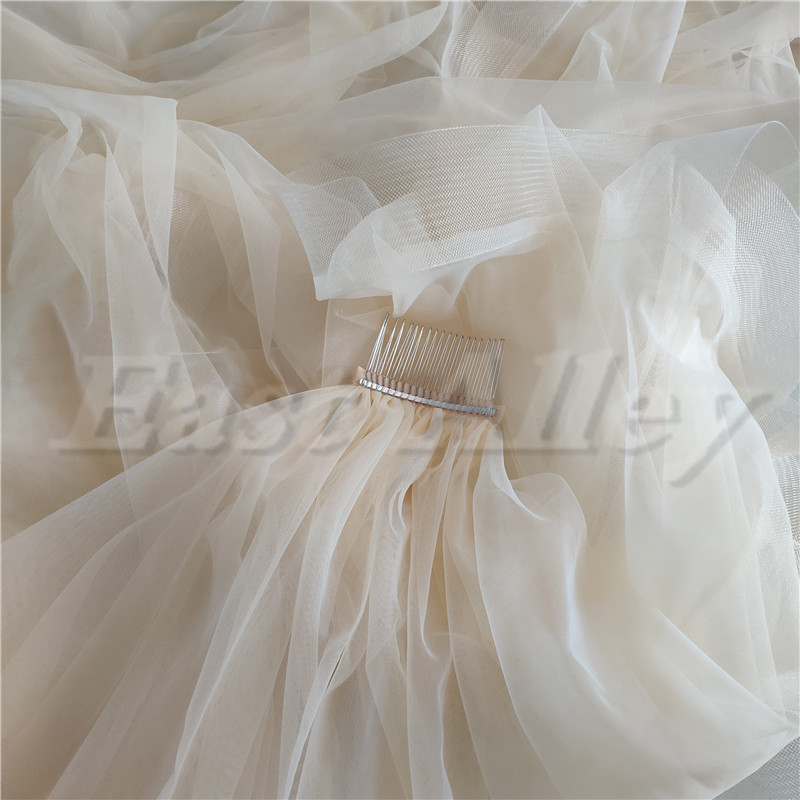Image 5 - New Bridal Veil, Wedding Veil with comb, Cathedral Ivory Veil Blusher Two Tier Veil with 2 inch Horsehair Trim, 108 inches-in Bridal Veils from Weddings & Events