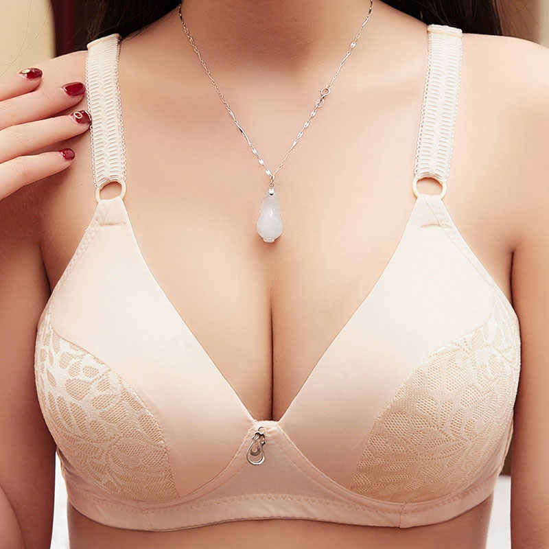 d4f4873964480 ... Women Push Up Bra Big Size A B C Cup 36 38 40 42 Sexy Wireless Underwear  Bras ...