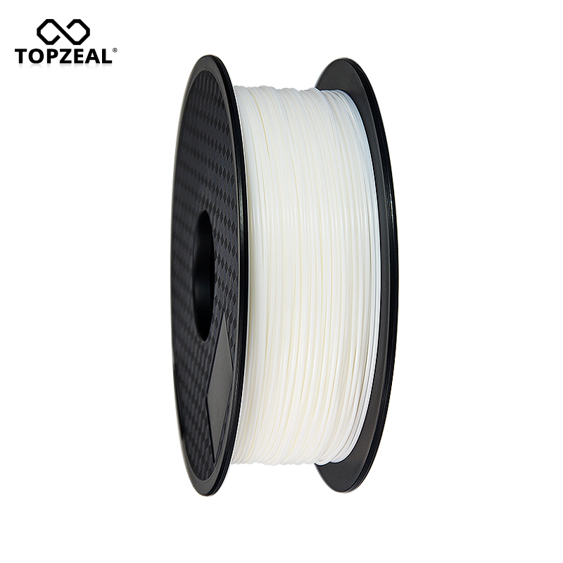 TOPZEAL Premium PLA Filament 1.75mm 1kg Spool for 3D Printer Filament 3d Printing Materials 3D Pen Filament White Color sunlu 3d pla printer filament 1 75mm polycarbonate filament 2 2lbs 1kg spool white color pla filament