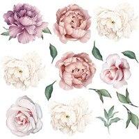 Große Rosa Pfingstrose Blume Wand Aufkleber Romantische Blumen Home Decor Wand Aufkleber Wandbild Für Schlafzimmer Wohnzimmer Tapete Muursticker