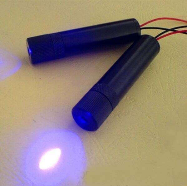 150mw focusable 405nm violet laser module with power supply size 16x60mm