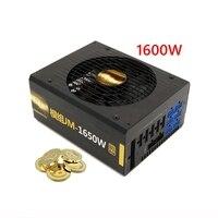 PC Мощность дополнение 1600 Вт реального Cryptocurrency Bitcoin PSU ETH горные машины источник ATX поддерживает GPU карты R9 370/380 RX 470/480/570