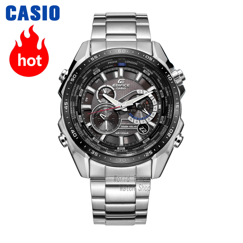 Casio นาฬิกา Edifice นาฬิกาข้อมือผู้ชายควอตซ์กีฬานาฬิกาแฟชั่นนาฬิกา EQS 500DB EQS A500DB-ใน นาฬิกาควอตซ์ จาก นาฬิกาข้อมือ บน   1