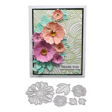 3D Flower Metal Cutting Dies Stencil DIY Scrapbooking Album Stamp Paper Card Embossing Craft Decor