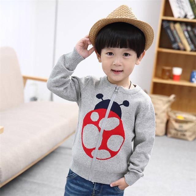 Girls Cardigan Long Sleeve Baby Boys Sweaters 100% Cotton Baby Boys and Girls Cartoon Animal Zipper Jacket Children Clothing