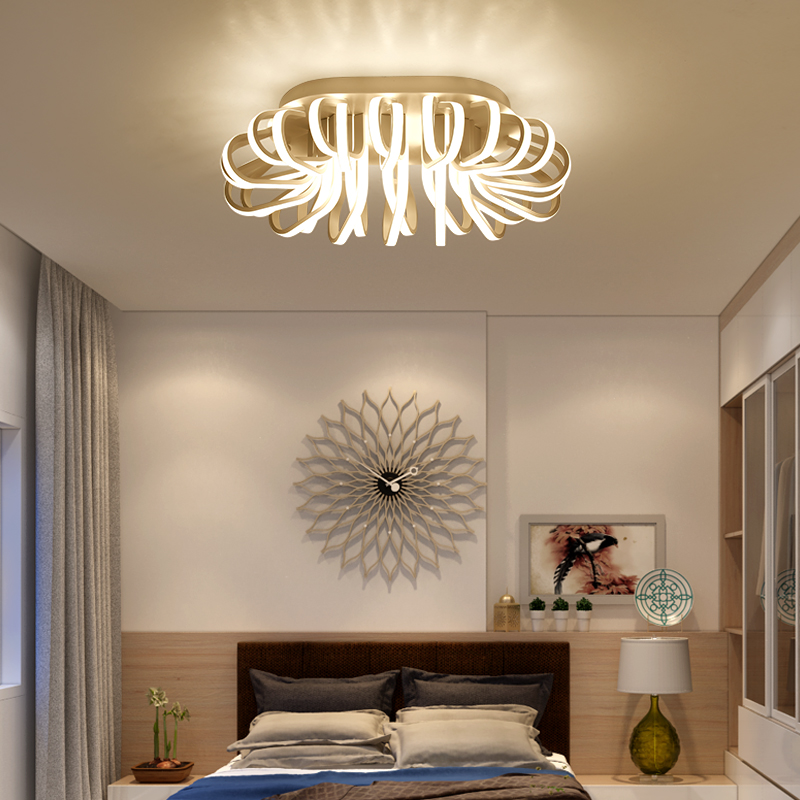 Led ceiling lights oval bird nest for living room bedroom study room plafonnier lamp Acrylic Rectangle shape lamparas de techo