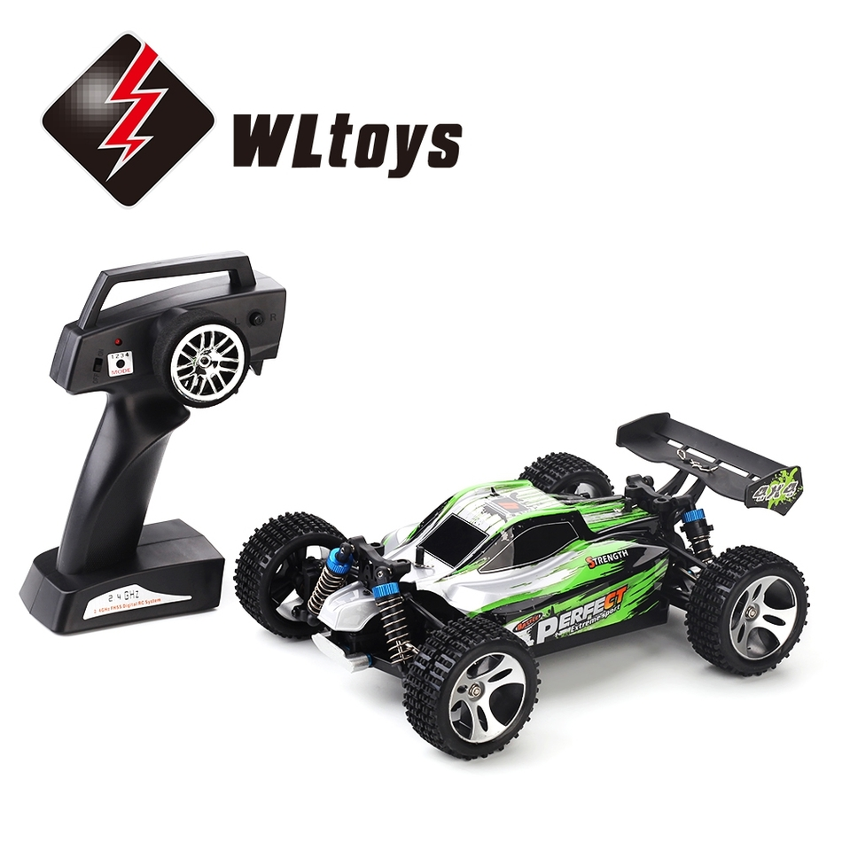 ФОТО New 1:18 4WD RC Off-road Car Wltoys a959 35km/h 2.4GHz 2CH Professional Outdoor Toys Splashproof with All Terrain Tires Shock