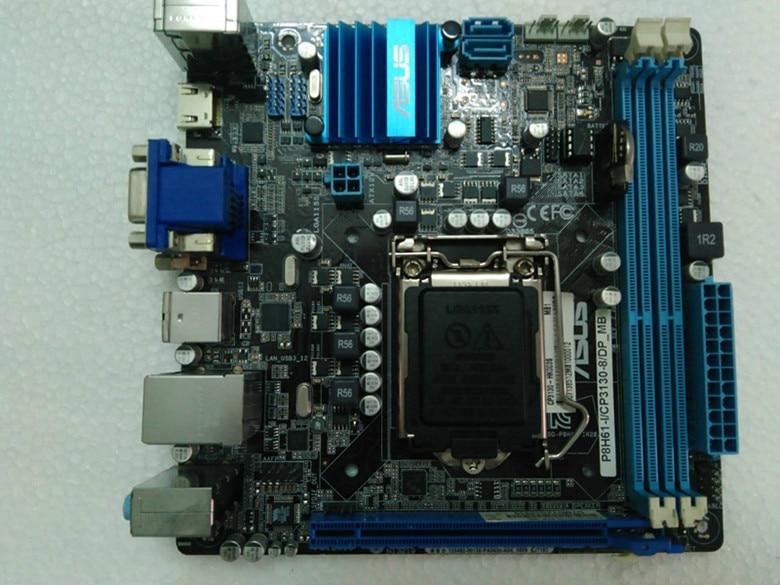 Used,P8H61-I Desktop Motherboard For Intel H61 Socket LGA 1155 For i3 i5 i7 DDR3 16G USB3.0 Mini- ITX msi original zh77a g43 motherboard ddr3 lga 1155 for i3 i5 i7 cpu 32gb usb3 0 sata3 h77 motherboard