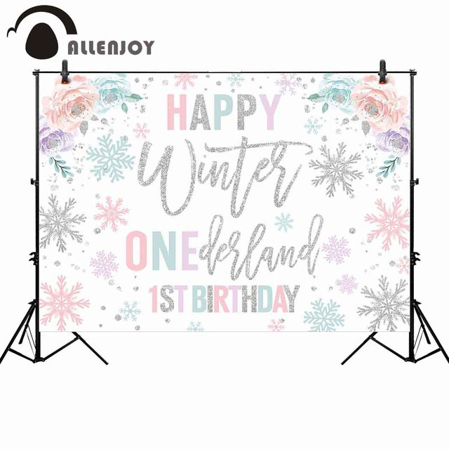 Allenjoy Winter Onederland Photography Background Birthday Party