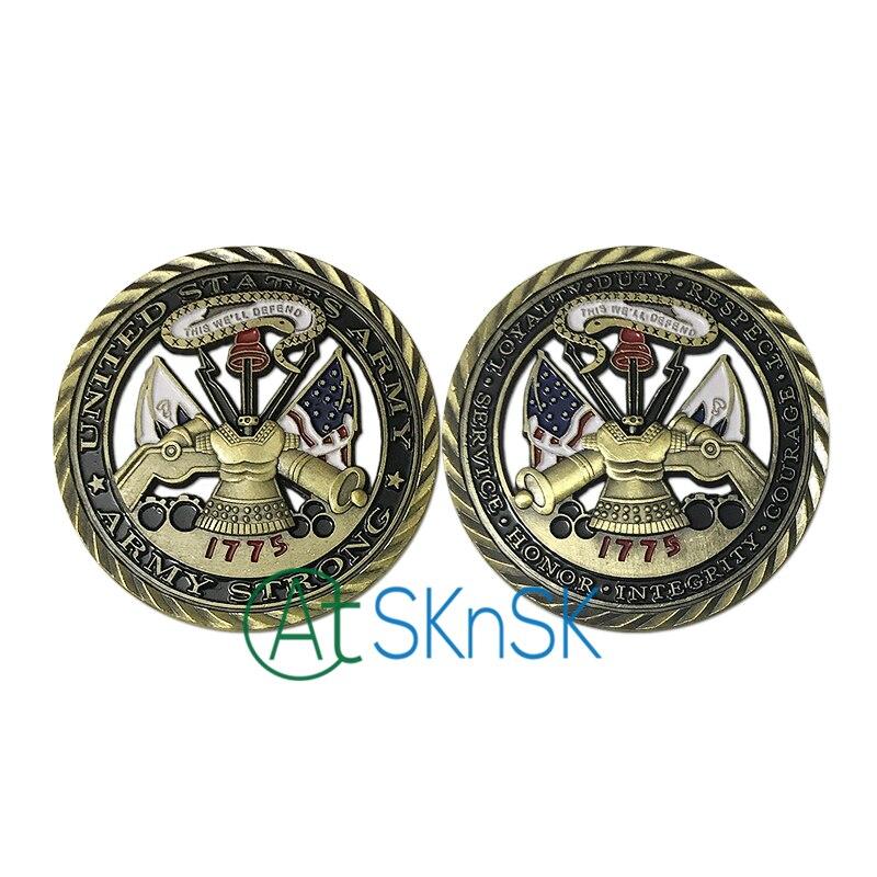 Neue Ankunft Münze 1/3/5/10 stücke US Army Grundwerte Herausforderung Münze Military Soldat Einheit medaillon Ausschnitt Souvenir Münzen für Geschenk