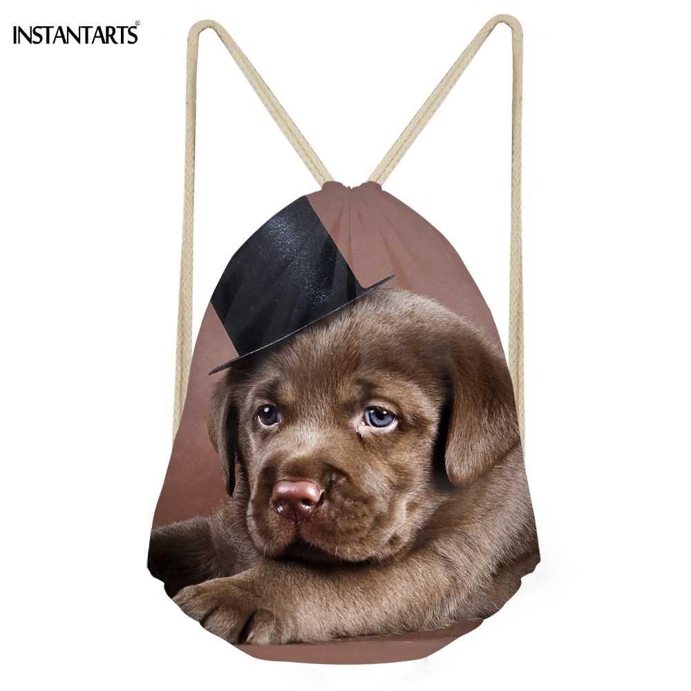 Фото INSTANTARTS забавные 3D собаки Лабрадор ретривер печатных Для женщин мужчин мешки с