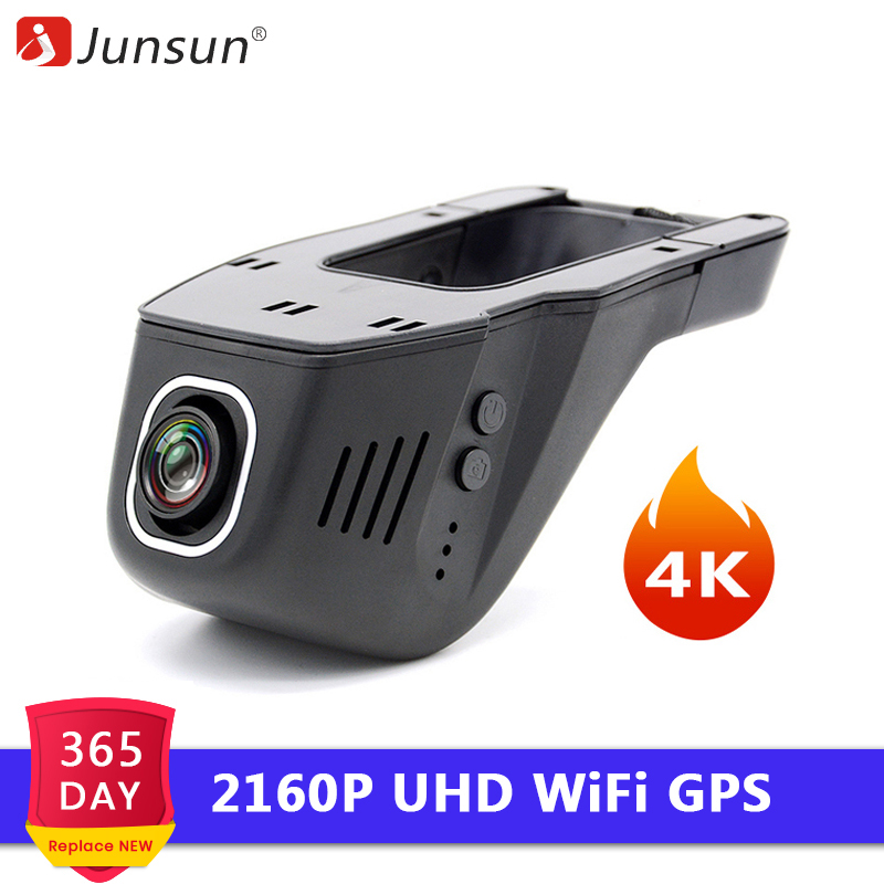 Junsun S690 4K WiFi Car DVR Camera NTK 96660 2160P Dashcam Video Recorder Registrator