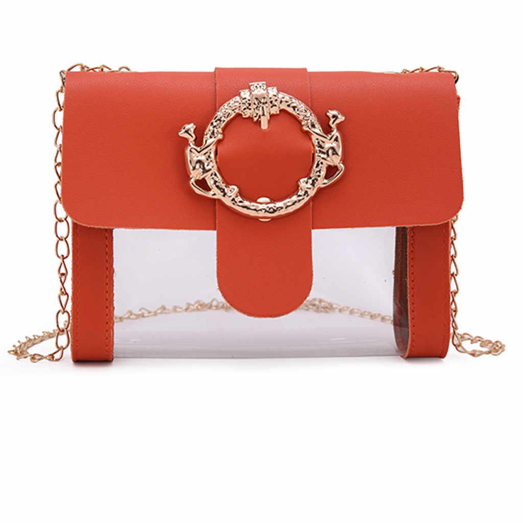Mode Transparent Gelee Zipper Schulter Messenger Handtasche Frauen Tasche 2019 Luxus Taschen Designer feminina sac haupt femme drop
