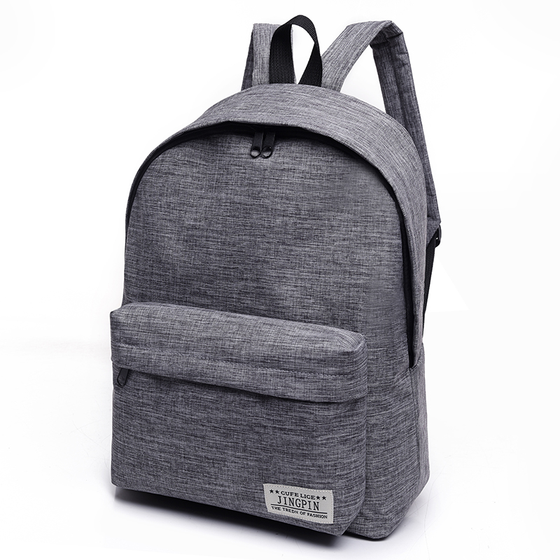 Bacisco Canvas Backpack Women Men Large Capacity Laptop Backpack Student School Bags for Teenagers Travel Backpacks Mochila 14 15 15 6 inch flax linen laptop notebook backpack bags case school backpack for travel shopping climbing men women