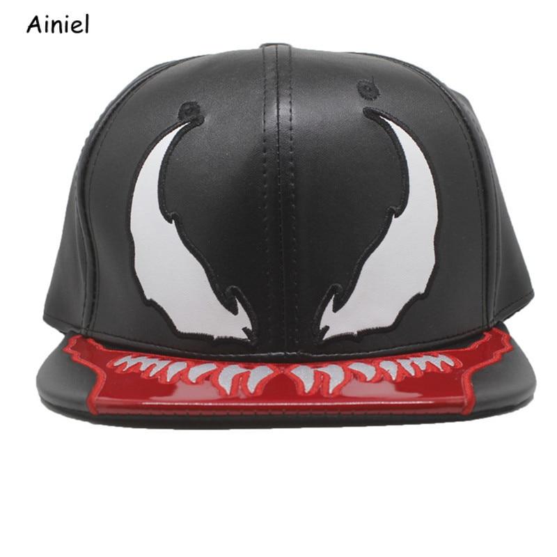Movie Venom Cosplay Spider Man Costumes Baseball Cap Casual Style Trend Hip Hop Baseball Caps Student Hats Adjustable Women Men