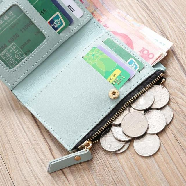 Naivety Embroidery Short Wallet PU Leather Wallets Female Floral Hasp Coin Purse Zipper Bag Card Holders 30S71205 drop shipping 5