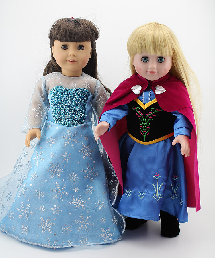 new arrival anna elsa priness clothes for american girl doll 18 inch hot sale dolls dress. Black Bedroom Furniture Sets. Home Design Ideas