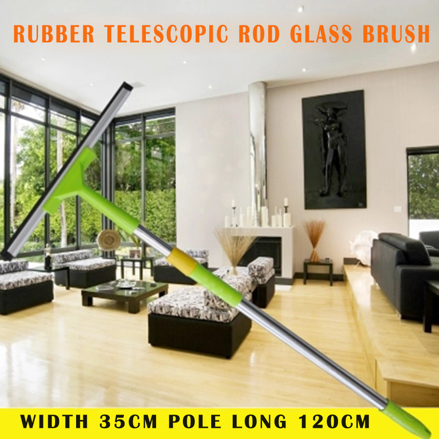 Large Safe Rubber Durable Floor Scrapers Blade Soft Window Cleaner Brush Hochwertige Glass Squeegee Cleaning Tools 40C0006 ...