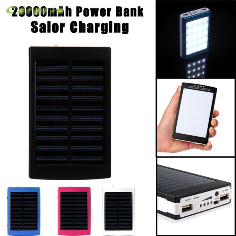 NewCARPRIE 8000 мАч светодиодный Dual USB Портативный Солнечный Батарея Зарядное устройство Мощность Bank для сотового Phonedrop shopping