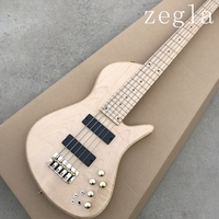 Special made 5 Strings Electric Bass Guitar with Maple Fretboard,Golden Hardwares,Flame Maple Veneer,can be customized