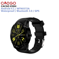 CACGO K98H 3G Smartwatch GPS Android 4.1 Waterproof Bluetooth 3.0 1.3 inch Screen MTK6572A 1.2GHz Dual Core 4GB ROM IP54