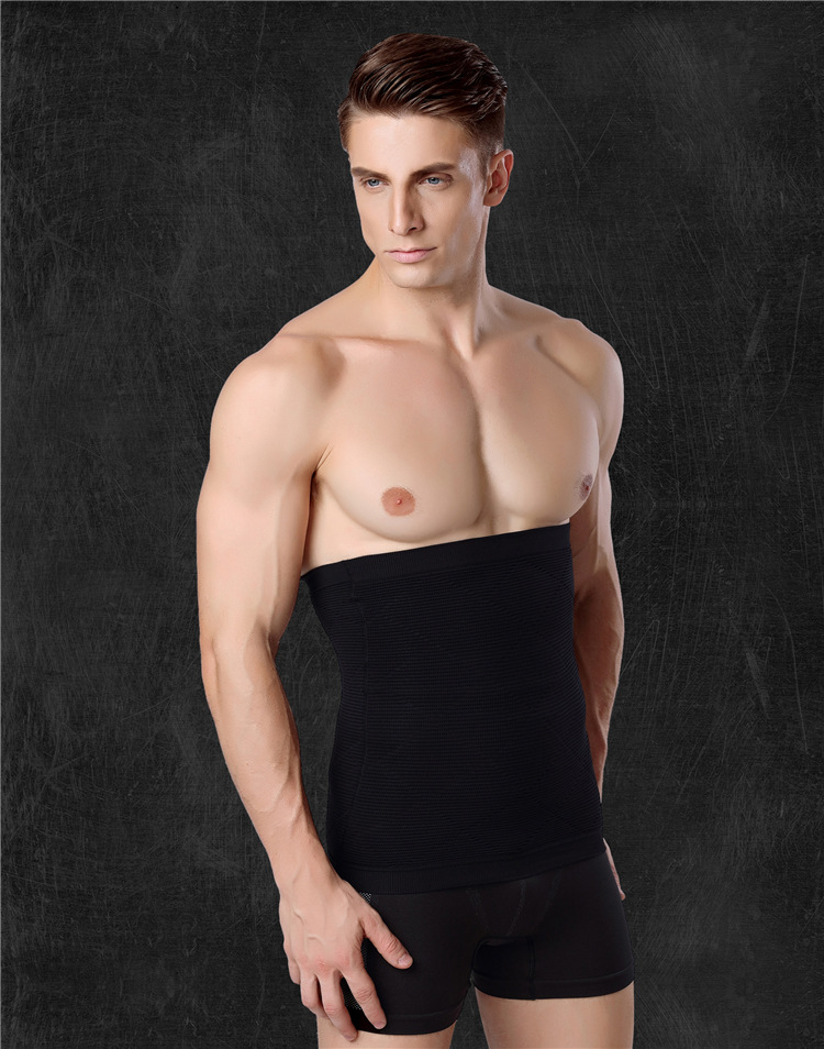 10pcs/lot Men Body Black Healthy Thin Slimming Belt waist Abdomen Shaper Burn Fat Lose Weight Waist Shapers