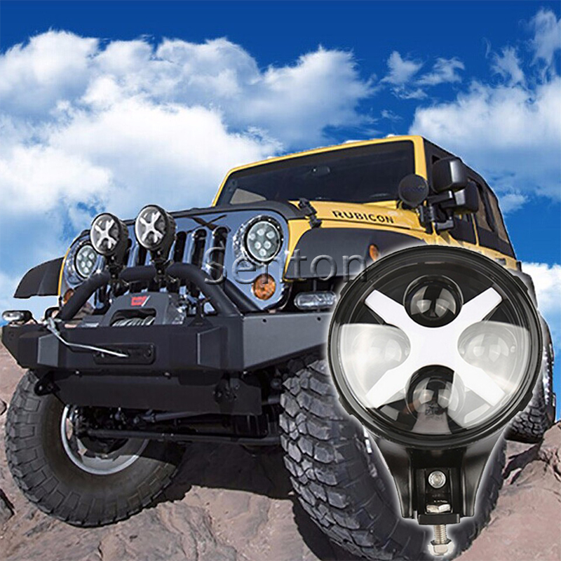 6 Inch 60W With CREE LED Chips Fog Light Driving Day Light Spotlight 12V Headlight For Jeep 4x4 4WD Offroad With X Angle Eyes