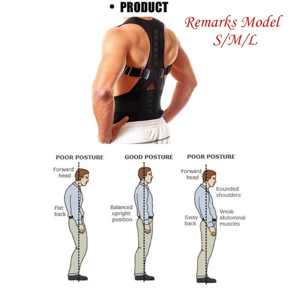 Men Women Posture Corrector Support Magnetic Back Shoulder Brace Belt Adjustable Prevent Hunchback Beautiful Standing Toiletry