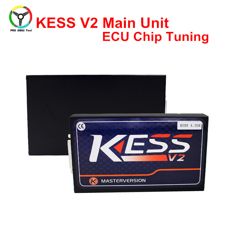 Newest KESS V2 Master Main Unit Master V2.37 V4.036 OBD2 Manager Tuning Kit Remove DTC ECU Programmer Chip Tool For Multi-Brands kess newest v2 28 obd2 tuning kit kess v2 fw4 036 sw2 28 ecu chip tuning tool free ecm titanium software free ship